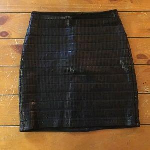 Dressy Black Sequined Skirt